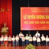 Lễ trao giải khuyến học cho học sinh năm học mới